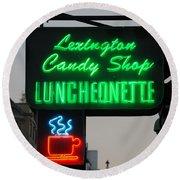 Lexington Candy Shop Round Beach Towel