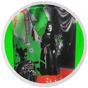Libertad Lady Number 2 Stove Lady Collage C.1880 Tucson Arizona 1880-2008 Round Beach Towel