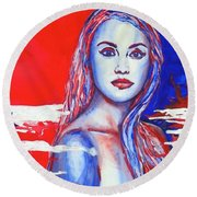 Liberty American Girl Round Beach Towel