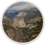 Liberty Cap And The Falls Round Beach Towel
