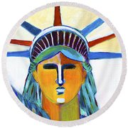 Liberty In Colors Round Beach Towel