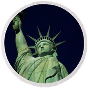 Liberty New York Casino Round Beach Towel