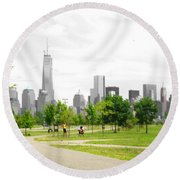 Liberty Park Round Beach Towel