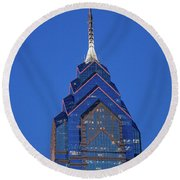 Liberty Place Skyscrapper At Dusk Round Beach Towel