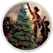 Liberty Places Star On The Tree Round Beach Towel