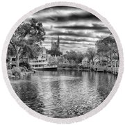 Liberty Square Riverboat Round Beach Towel