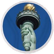 Liberty Torch Round Beach Towel