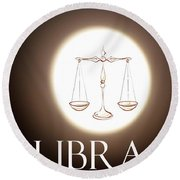 Libra Round Beach Towel