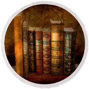 Librarian - Writer - Antiquarian Books Round Beach Towel