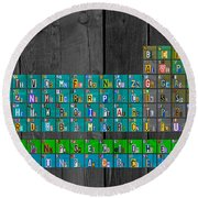 License Plate Art Recycled Periodic Table Of The Elements By Design Turnpike Round Beach Towel