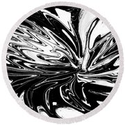 Licorice In Abstract Round Beach Towel