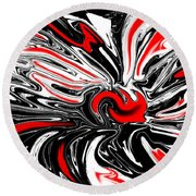 Licorice With Red Cherry Round Beach Towel