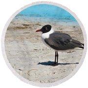 Lido Gull Round Beach Towel