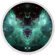 Life And Death Of Stars 2 Round Beach Towel