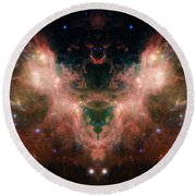Life And Death Of Stars 4 Round Beach Towel