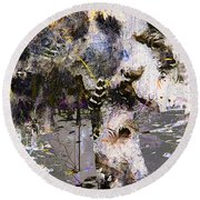 Life And Death On The River Of Rocks Trail Round Beach Towel