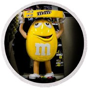 Life And Times Of Big M Round Beach Towel