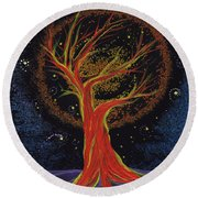 Life Blood Tree By Jrr Round Beach Towel