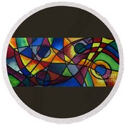 Life Colors Round Beach Towel