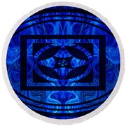 Life Force Within Abstract Healing Artwork Round Beach Towel