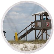 Life Guards On Duty Round Beach Towel