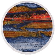 Life In The Fast Lane Round Beach Towel