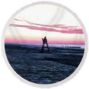 Life Is A Beach Round Beach Towel