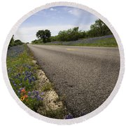 Life Is A Highway  Round Beach Towel by Lynn Bauer