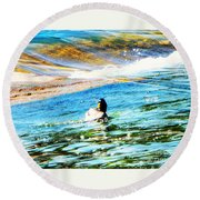 Life Is Just Ducky Round Beach Towel