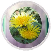 Life Is Made Up Of Dandelions Round Beach Towel