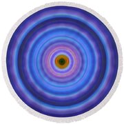 Life Light - Abstract Art By Sharon Cummings Round Beach Towel