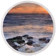 Life On The Rocks Round Beach Towel
