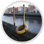 Life Saver -  Swiffey River - Dublin Ireland Round Beach Towel