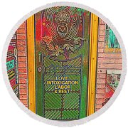 Life Should Be Painted Round Beach Towel