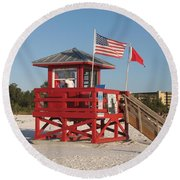 Lifeguard Siesta Beach Round Beach Towel