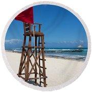 Lifeguard Round Beach Towel