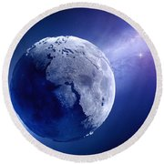 Lifeless Earth Round Beach Towel