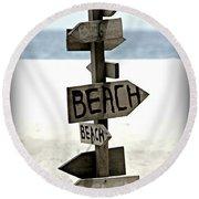 Life's A Beach Round Beach Towel