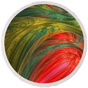 Life's Colors Round Beach Towel