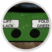 Lift Black Fold Green Round Beach Towel by Christi Kraft