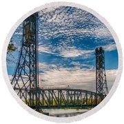 Lift Bridge 3d21789 Round Beach Towel