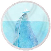 Lift Round Beach Towel by Eric Fan