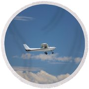 Light Aircraft Round Beach Towel