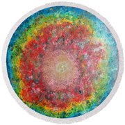 Light Analysis Round Beach Towel
