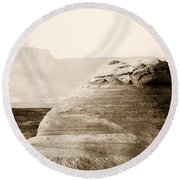 Light Around The Curve Round Beach Towel