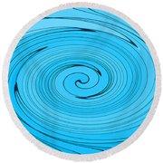 Light Blue Round Beach Towel