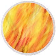 Light Branches Round Beach Towel