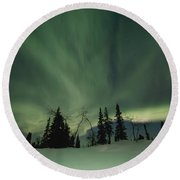 Light Dancers Round Beach Towel