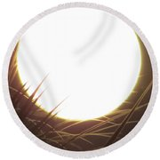 Light From The Moon Round Beach Towel