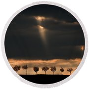Light From The Sky Round Beach Towel